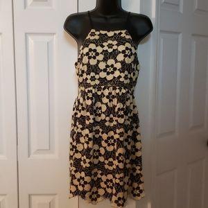 UO Cooperative halter dress - floral EUC